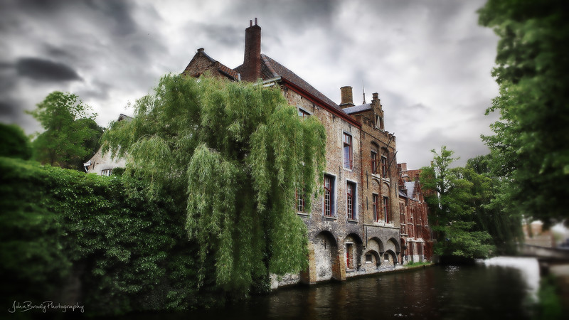 House on a Canal in Bruges, Belgium - I first saw the 500 year old house in the movie In Bruges, and I wanted to see the house and the village ever since. It was worth the trip - John Brody Photography - JohnBrody.com
