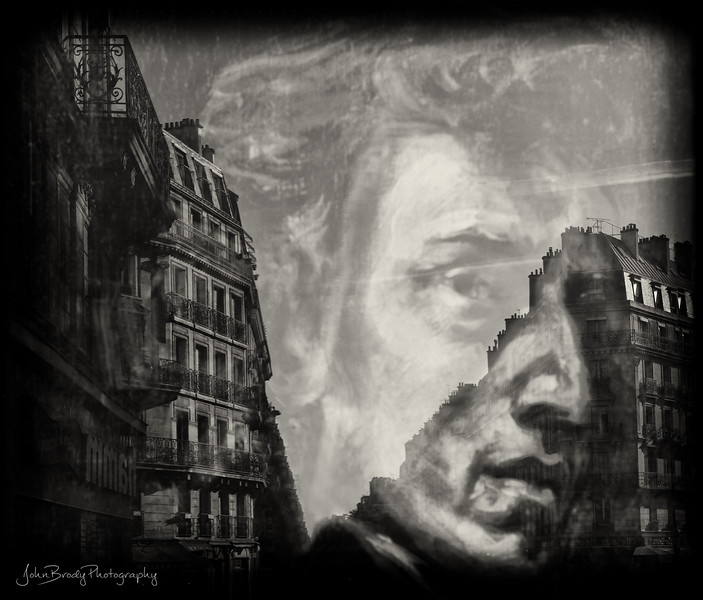 Reflection of Paris Architecture on Chopin Painting  - JohnBrody.com / John Brody Photography