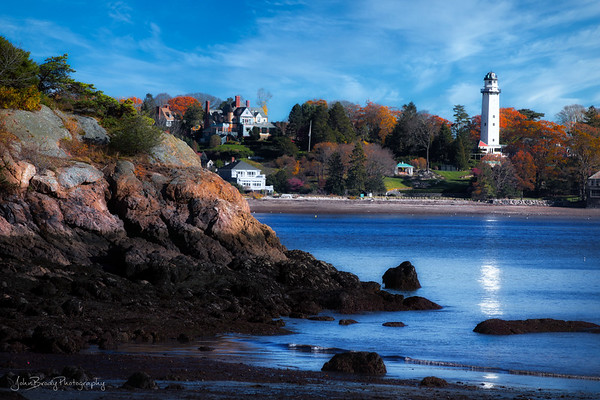Lighthouse Near Manchester-by-the-Sea - New England