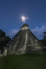 Temple and moonlight.  Tikal