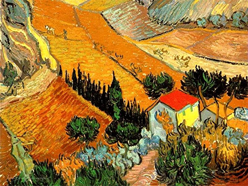 Vincent van Gogh - House and Ploughman - John Brody Photography --- JohnBrody.com