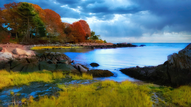 Autumn Colors at Lobster Cove New England using iPhone XS --- John Brody Photography