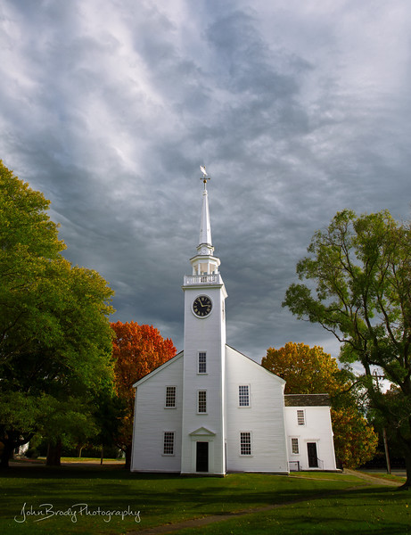 Photos from my New England autumn trip - Gorgeous season and great people! Here's one from a day down in Massachusetts, It's the church / town square from the classic movie Witches of Eastwick --- John Brody Photography - JohnBrody.com