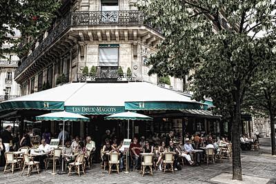 Les Deux Magots Cafe in Paris France - JohnBrody.com / John Brody Photography