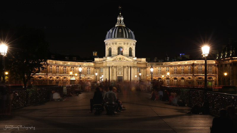 Time Lapse Photo - A blur of visitors to Pont des Arts AKA The Bridge of Locks - JohnBrody.com / John Brody Photography