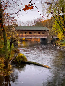 Covered Bridge in Fall in Southern New Hampshire