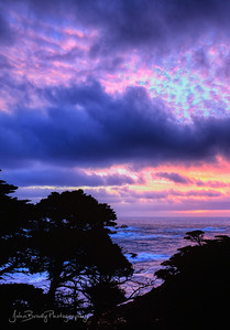 Colorful sunset near Monterey California at Point Lobos on the California Coast  -  JohnBrodyPhotography  - JohnBrody .com