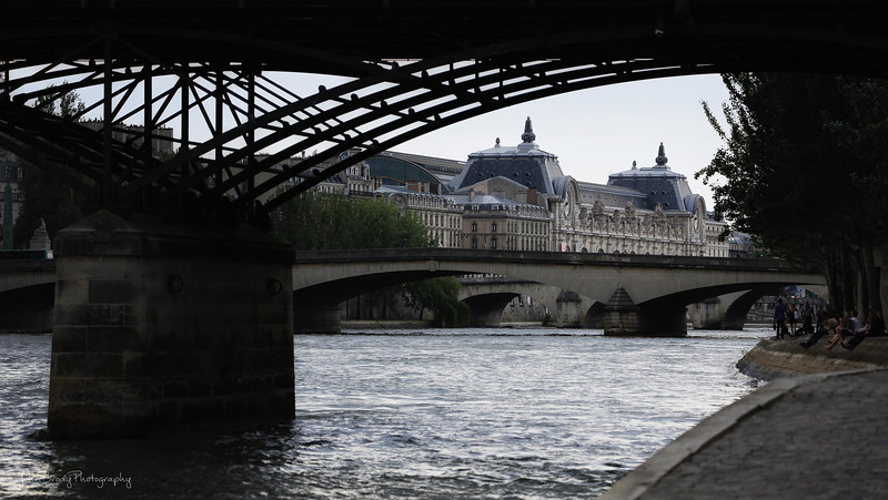 D'Orsay Museum shot from beneath the Pont des Arts on the Seine River. The D'Orsay has the largest collection of Vincent van Gogh paintings outside of Amsterdam - John Brody Photography - JohnBrody.com