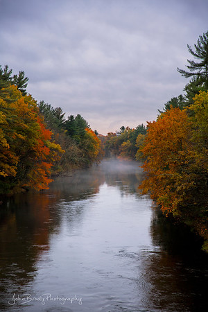 Misty River in New England --- John Brody Photography