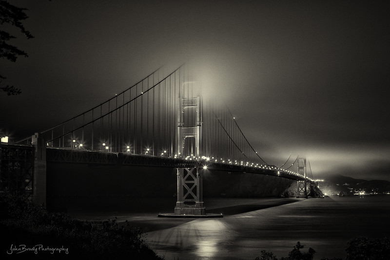 San Francisco Golden Gate Bridge Long Exposure Photography - Shot from the southern side of the bay looking north towards Sausalito and the wine country --- JohnBrody.com / John Brody Photography