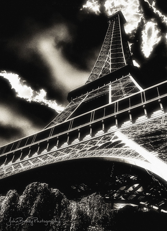 Shot while laying on the Lawn by the Eiffel Tower Duck Pond - A very unique cloud formation -  - JohnBrody.com / John Brody Photography