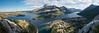 Panorama of Prince of Wales Hotel and Waterton, Alberta from Bear's Hump