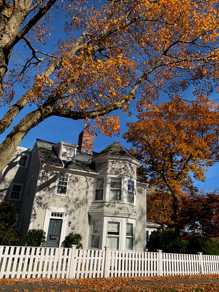 Just an Average New England House on Side Street off of Coastal Scenic Highway Route 127 in Mass - John Brody Photography