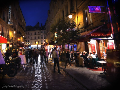 Popular nightspot off of Rue de la Huchette near Saint-Michel Paris France   -   JohnBrody.com / John Brody Photography