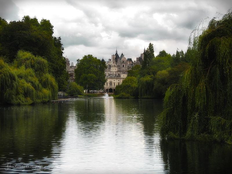 London Architecture Over Hyde Park Pond