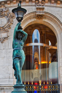 Statue and Reflections at the Paris Opera House - JohnBrody.com / John Brody Photography