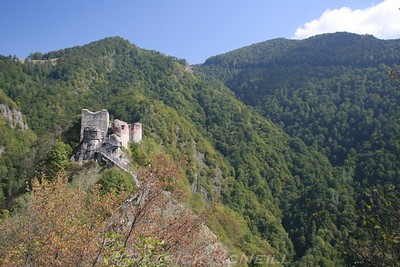 Poienari Castle - Right on top of its own mountain peak