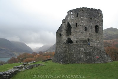 Dolbadarn Castle - North Wales, excellent setting in the mountains