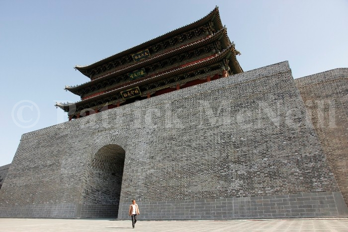 The giant walls of ancient Chinese cities.