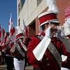 U of A band entering the stadium