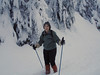 Mt. Baker National Recreation Area- Mary on skis