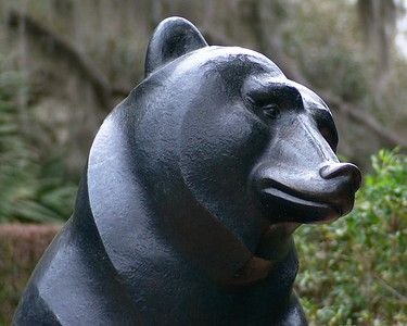 Bear sculpture detail in the children's garden At Brookgreen Gardens NEX 6 w/Vivitar Series 1 105mm