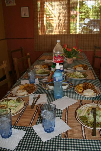 Our friend prepare a delicious lunch for us:  palmito salad and a beef stew that screamed 'ask for more please'...  <br /> Nuestra amiga, preparo un delicioso almuerzo:  ensalada de palmito y un guiso de carne de res que pedia a gritos 'repite por favor'...