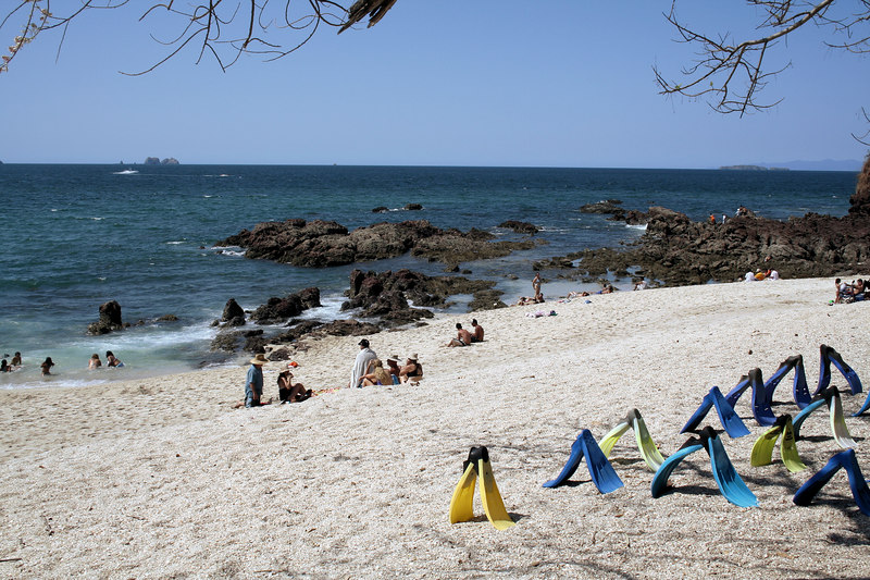 At El Conchal beach.<br /> <br /> En la playa El Conchal.