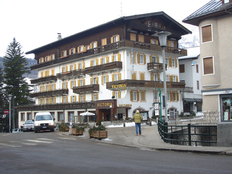 The Victoria Hotel, our home away from home in Cortina