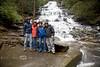 Jeurgen, Fonda, Cindy & Pat in front of Mini Ha Ha Waterfall, Clayton Georgia