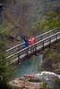 Cindy & Fonda crossing the Suspension Bridge over the Tallulah Gorge, Georgia