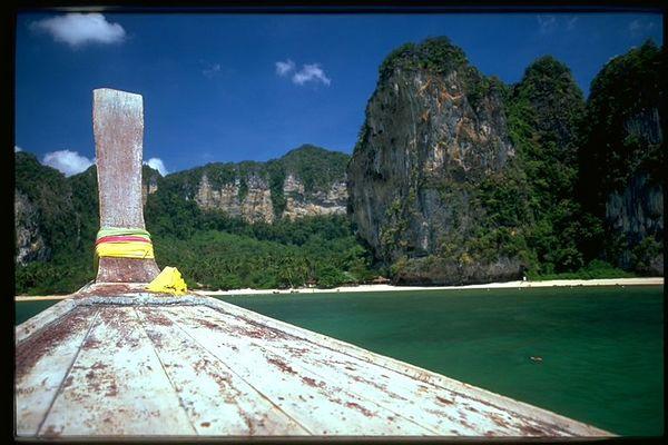 Ao Ton Sai beach from Andaman sea, Thailand