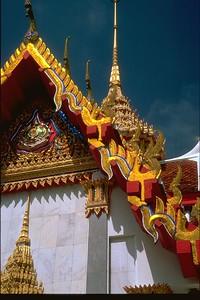 Songklha temple detail dark skies storm, Thailand