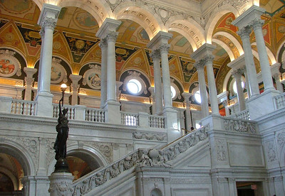 Library of Congress ornate ceiling