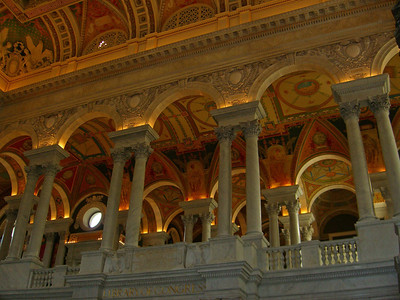 The Thomas Jefferson Building, Library of Congress, considered the most beautiful building in Washington, DC    http://www.loc.gov/jefftour/