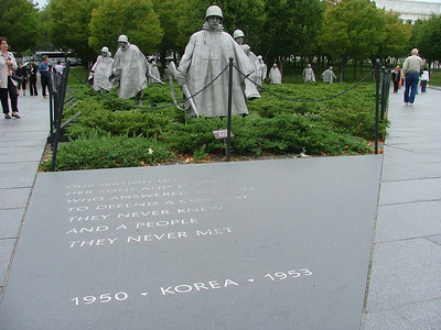 Korean War Memorial, near Lincoln Memorial, on the Mall, Washington, DC