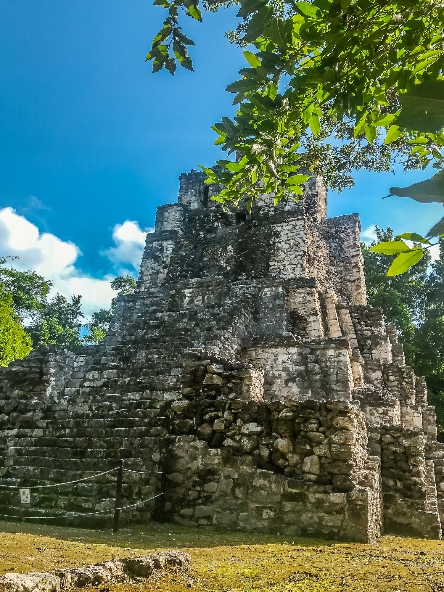 Muyil is a great day trip from Felipe Carrillo Puerto. This Mayan ruin has none of the crowds that you see in Chichen Itza or Tulum.