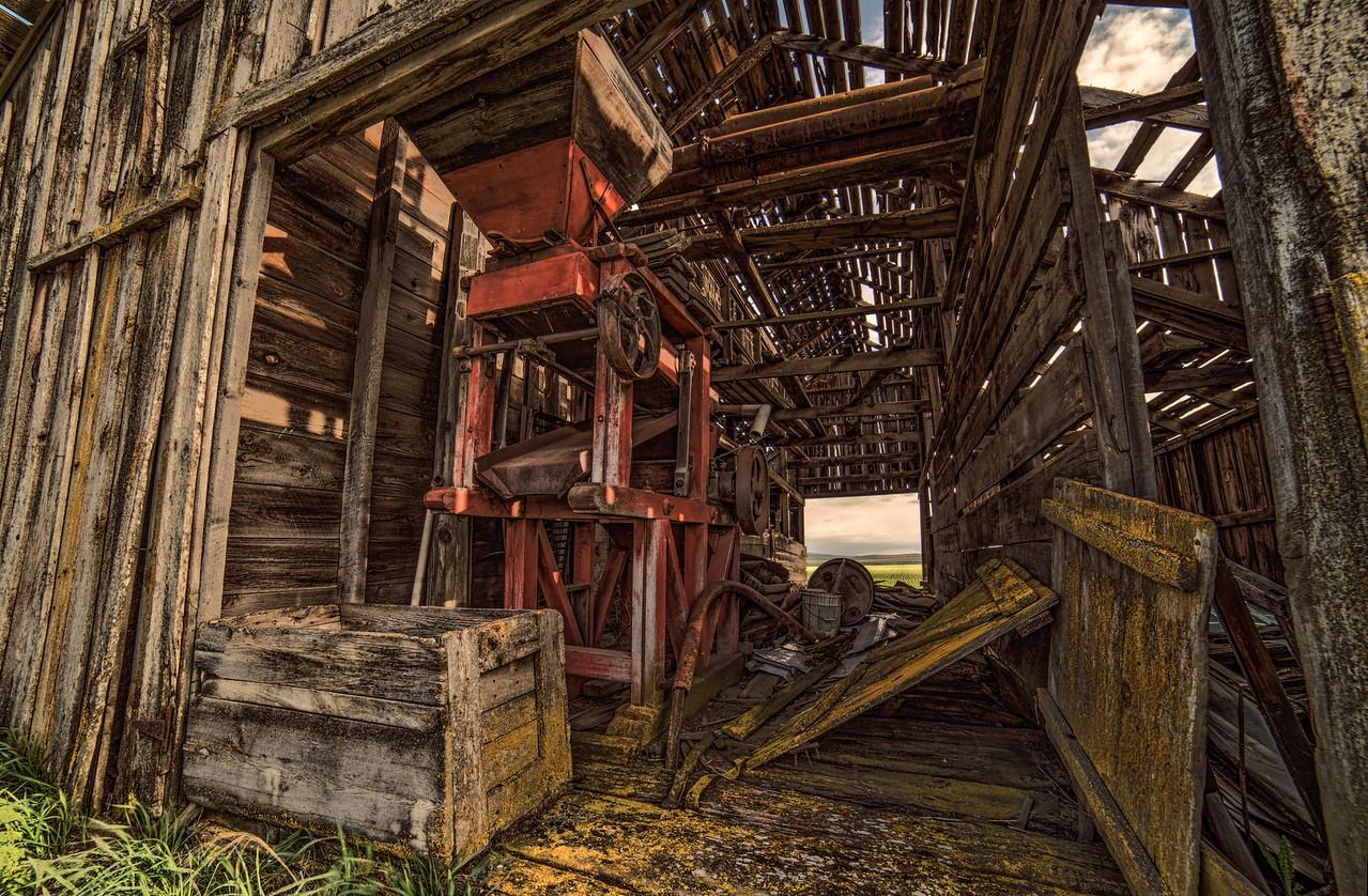 old farm grain mill