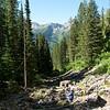 Hiking up the Tamarack trail