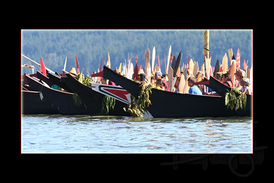 Canoes from south of Lummi Reservation.