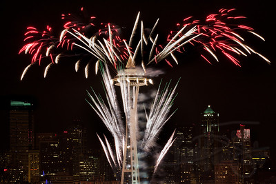 New Years Fireworks in Seattle, 2011->2012