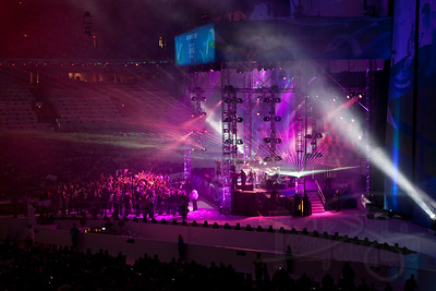 Concert following medal ceremony performed by Quebec artist Gregory Charles.