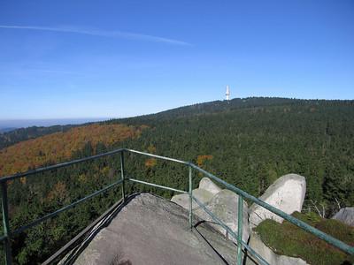 Uitzicht op Schneeberg 1052 mtr.
