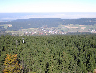 Uitzicht op Bischofsgrün