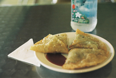 Samosa at the airport