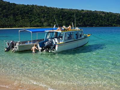 "Moored off ""mafia"" Island, Yasawa's, Fiji"