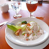 Fijian ceviche, with coconut milk and fresh Walu fish.