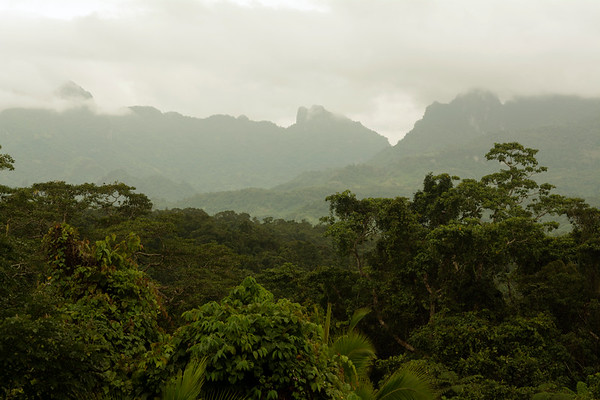 Fijian mountain range
