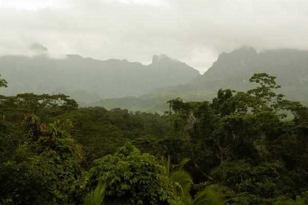 Fijian mountain range