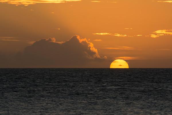 Sunset from Yasawa islands